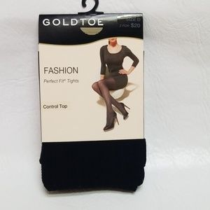 GoldToe Fashion Perfect Fit CONTROL TOP tights D
